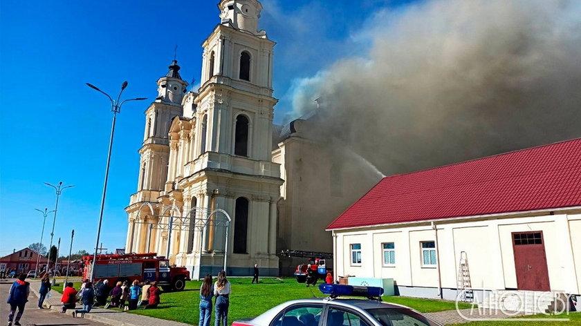 Pożar w kościele Wniebowzięcia Najświętszej Maryi Panny w Budsławiu