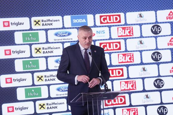 Predrag Danilović, predsednik KSS-a, na svečanosti naše kuće košarke
