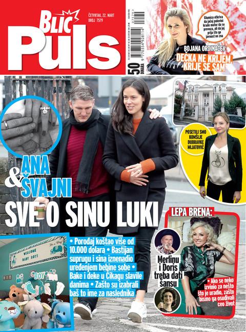"""Novi """"Blic puls"""" je u prodaji: Svi detalji dolaska na svet sina Ane Ivanović i Bastijana Švajnštajgera!"""