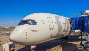 A SAS Scandinavian Airlines' Airbus A350-900 XWB.
