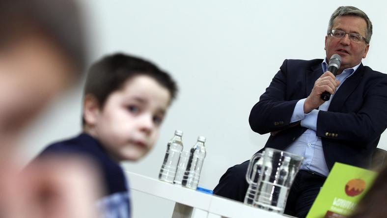 Prezydent Komorowski w Cieszynie, fot. PAP/Andrzej Grygiel