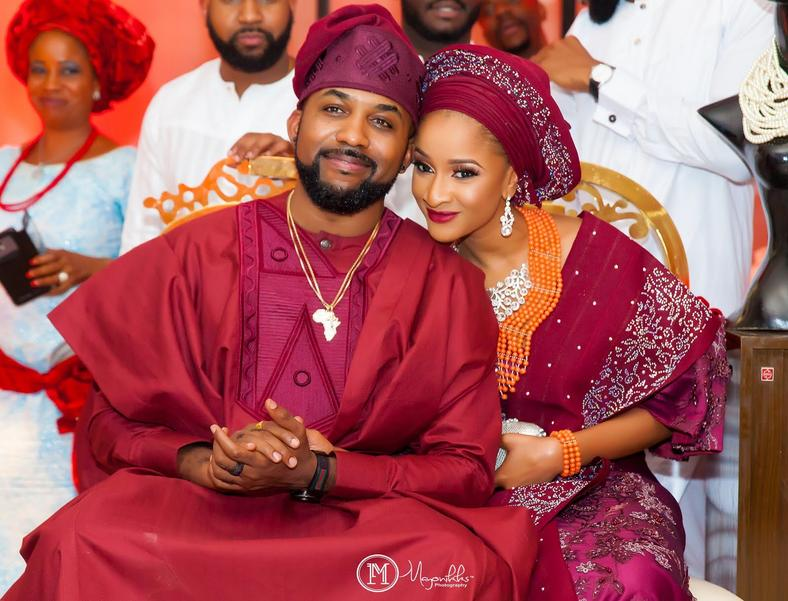 Banky W and Adesua Etomihad the most talked about celebrity wedding in 2017[Credit: Mayonikks]