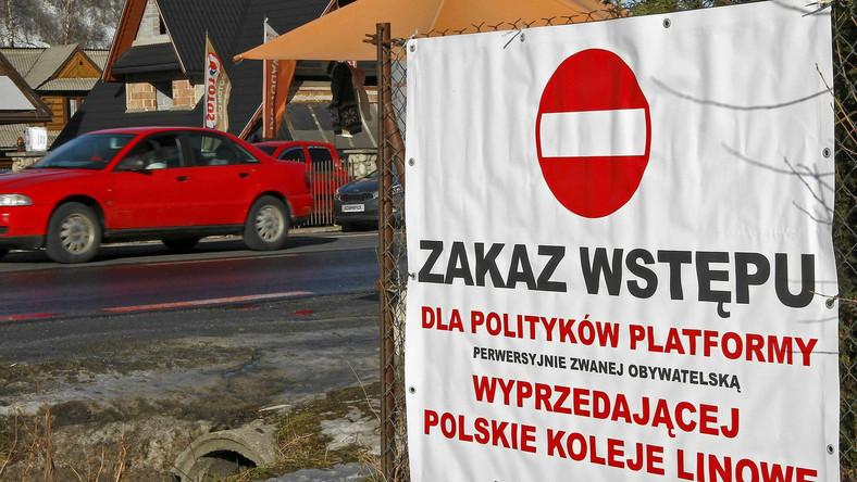 Akcja posłanki PiS w Zakopanem