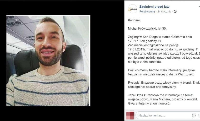 Tajemnicze zaginięcie polskiego nauczyciela w USA