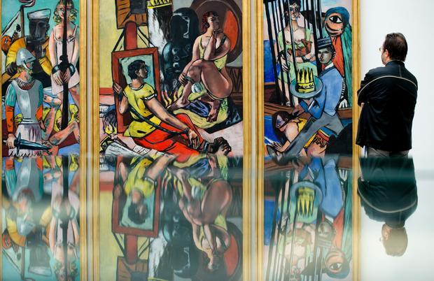 Praca Maxa Beckmanna na wystawie poświęconej tzw. sztuce wynaturzonej, Monachium 2016 r.