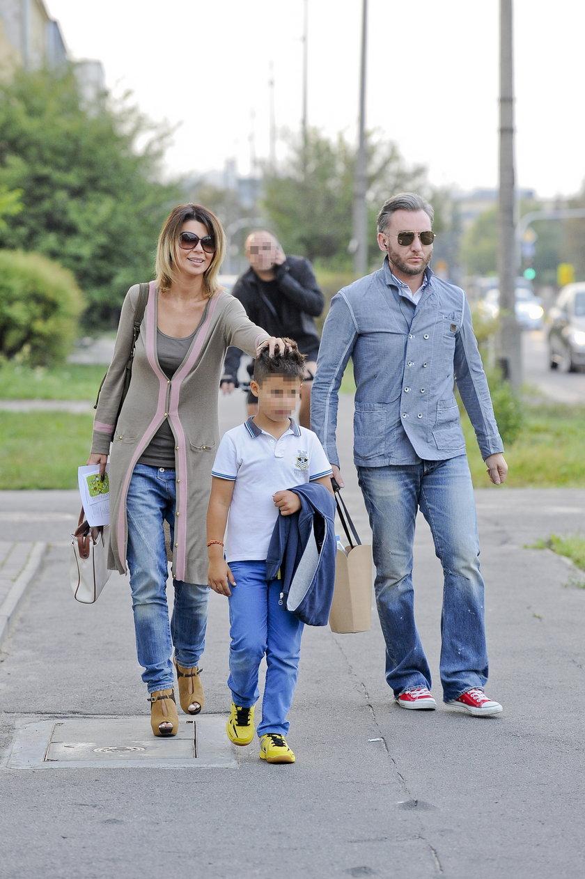 Edyta Górniak z synem i Schrammem