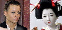 Waśniewska jak żywa porcelanowa lalka
