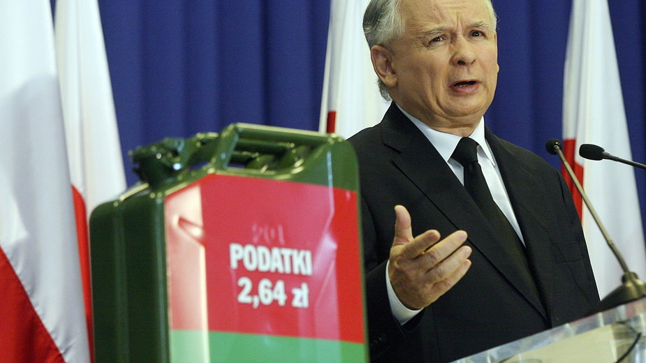 Jarosław Kaczyński o cenach benzyny (2011 r.)