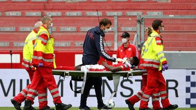 Nigerian forward Taiwo Awoniyi says he's fine after concussion that sent him to the hospital