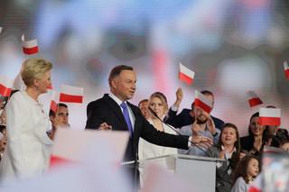 Andrzej Duda: Cieszę się z mojego zwycięstwa, na razie sondażowego