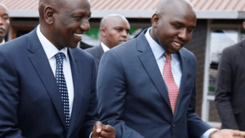 File image of Elgeyo Marakwet Senator Kipchumba Murkomen with DP William Ruto