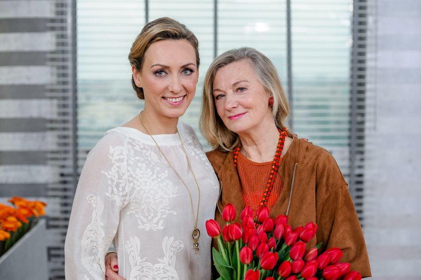 Anna Kalczyńska z mamą