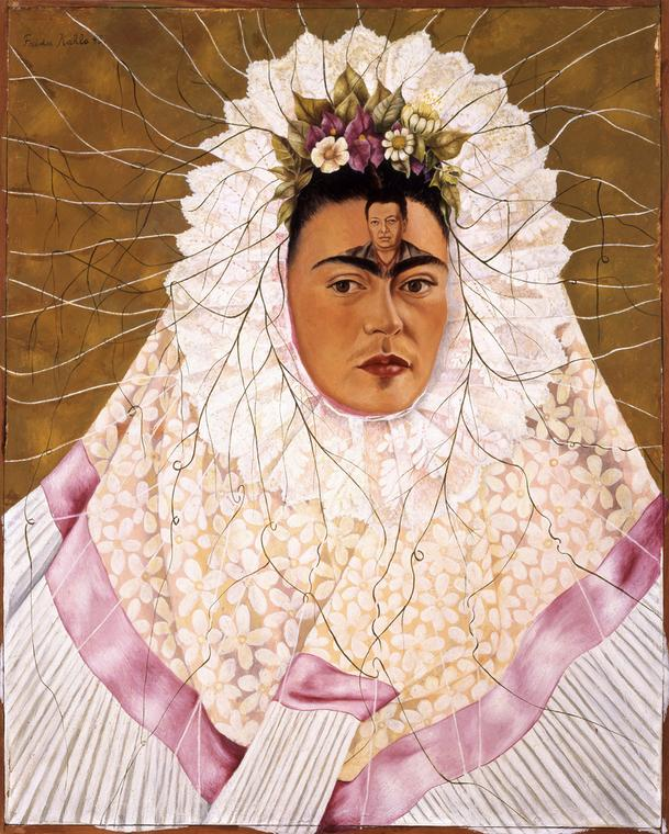 "Frida Kahlo ""Autoportret jako Tehuanka, lub Diego w moich myślach"", Trust © 2017 Banco de México Diego Rivera Frida Kahlo Museums Trust"