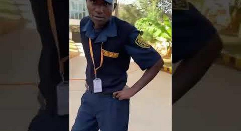 KK Security guard who was caught on camera assaulting a woman