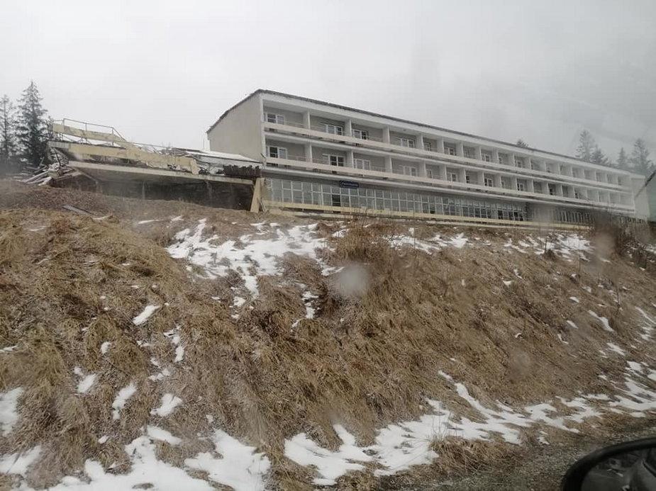 """Tak niszczeje słynny pensjonat """"Panorama"""""""
