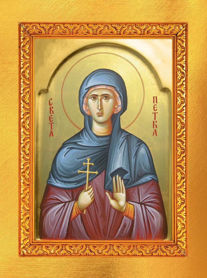 Ikona Svete Petke, Prepodobne mati Paraskeve