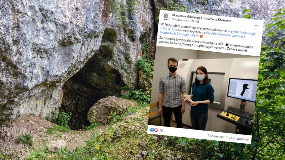 Studenci zbadali tomografem fragment poroża jelenia sprzed 27 tys. lat
