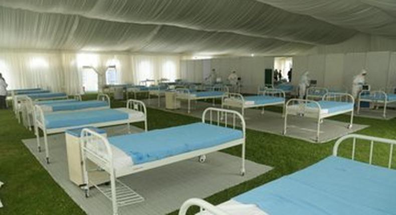 Stadium converted to Covid-19 hospital