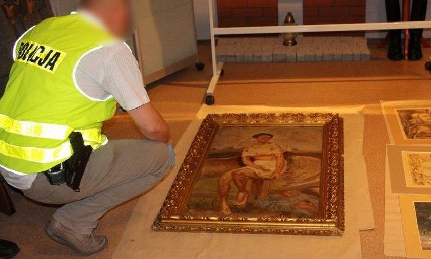 Policjanci odzyskali w sumie 80 dzieł sztuki