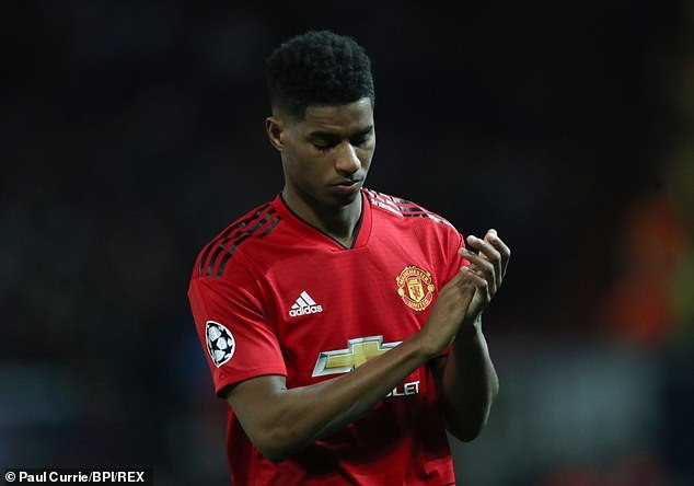 Marcus Rashford had another terrible day in office on Wednesday night (Paul Currie/BPI/REX)
