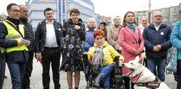 Demonstracja osób niepełnosprawnych w Katowicach