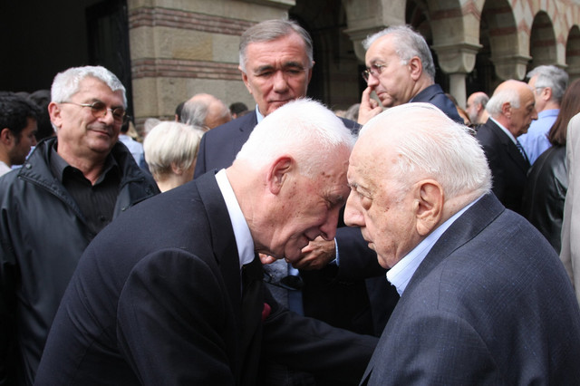 Matija Bećković i Nikola Hajdin
