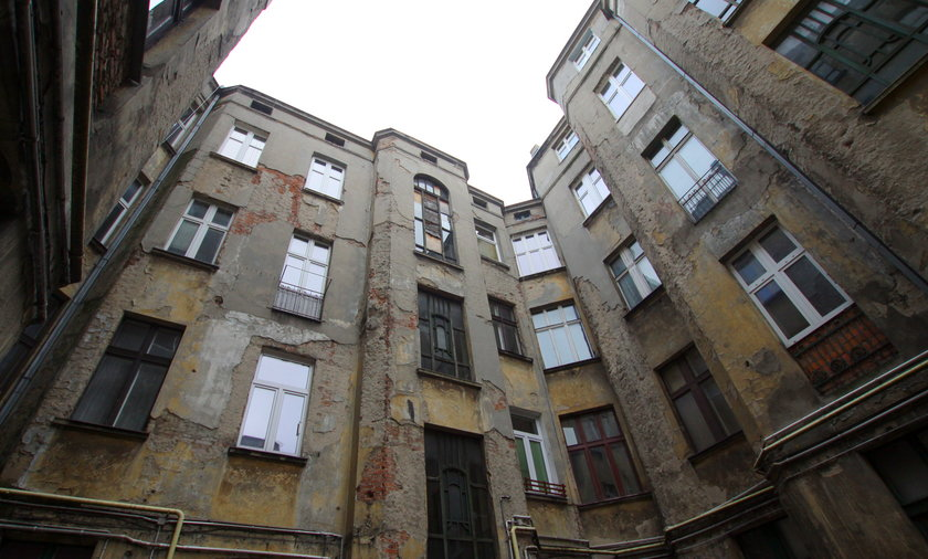 Lokatorzy wyrzuceni na bruk w Łodzi