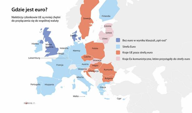 Które państwa przyjęły euro
