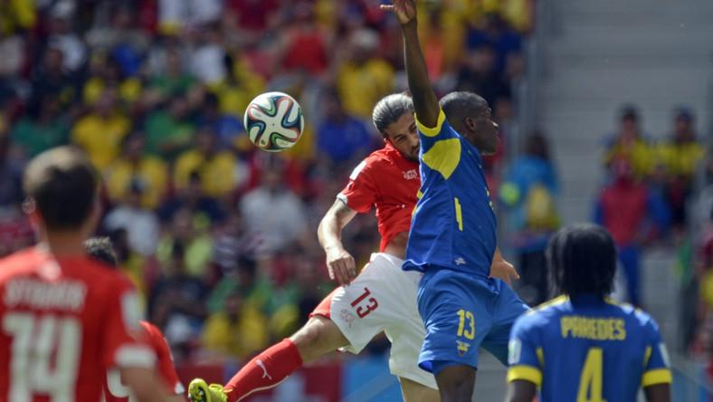 Szwajcaria wygrała z Ekwadorem 2:1 (0:1)