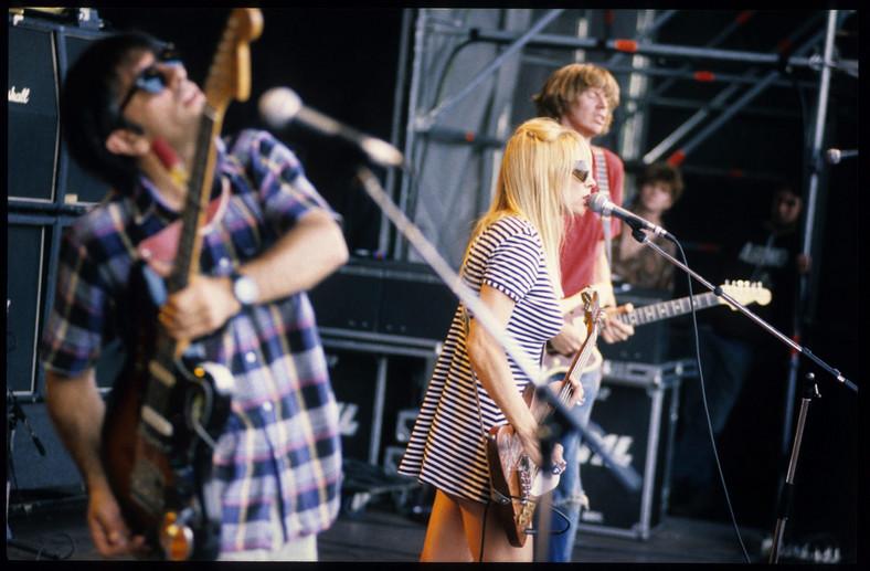 Kim Gordon na scenie z Sonic Youth