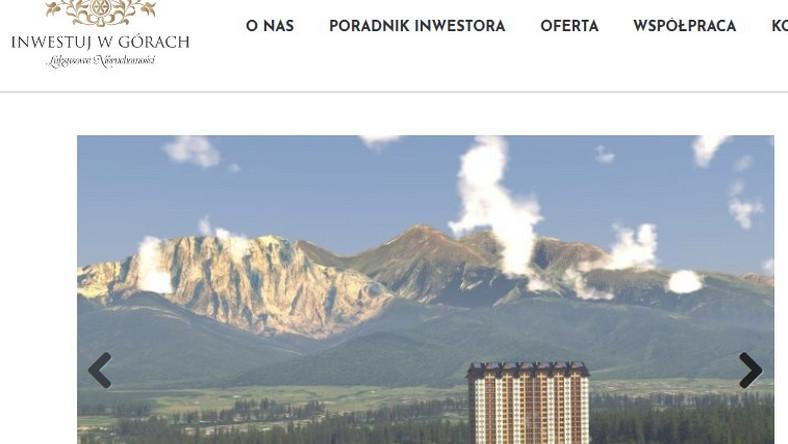Zakopane Mountain Resort/screen ze strony dewelopera