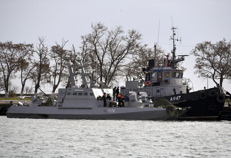 Zaplenjen ukrajinski brod EPA STRINGER