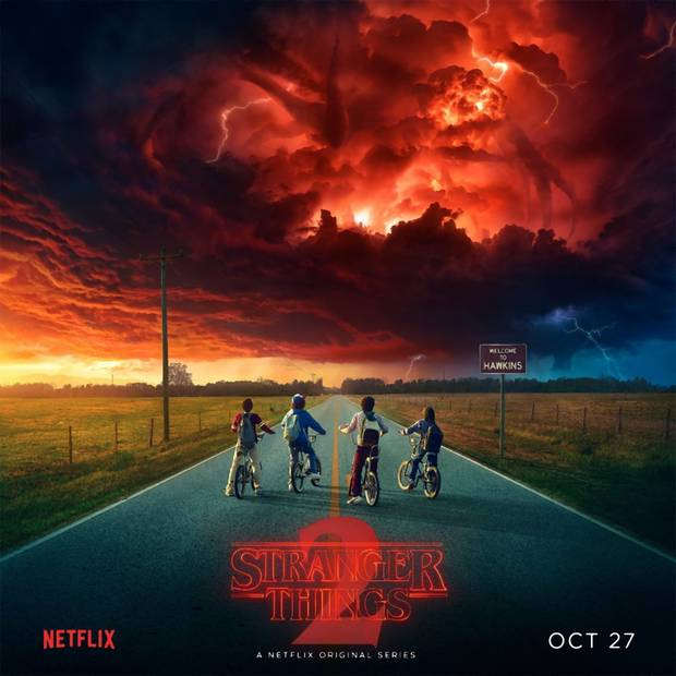 "Plakat drugiego sezonu ""Stranger Things"""