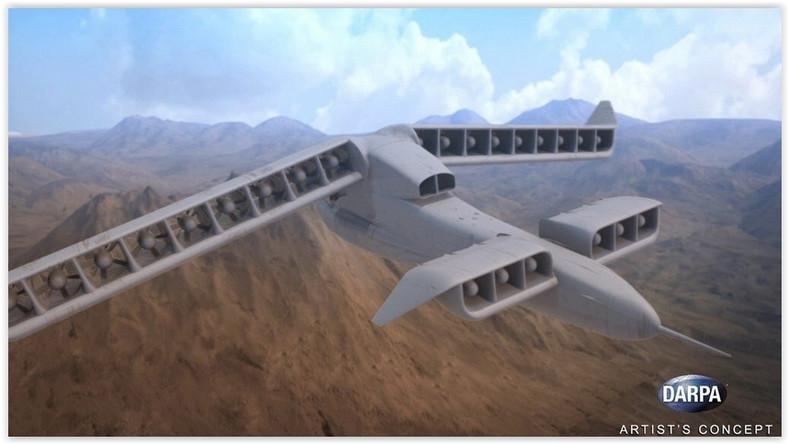 DARPA pochwaliła się swoim nowym i jak zawsze niesamowitym projektem. Najnowszy bezzałogowiec określany na razie jako VTOL X-Plane nie będzie potrzebował pasów startowych, a jego maksymalna prędkość przelotowa wyniesie 550-750 km/h.