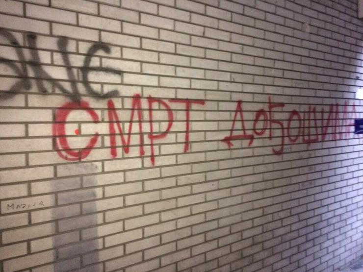 "Grafit u centru Beograda ""Smrt dođošima"""