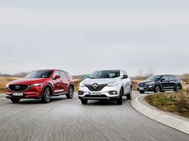 Renault Kadjar kontra Mazda CX-5 i Hyundai Tucson - który SUV będzie lepszym wyborem?