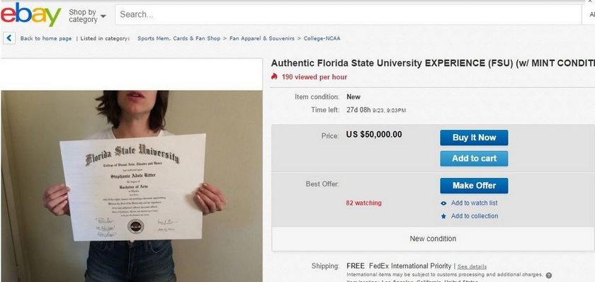 Sprzedaje dyplom, bo nie może znaleźć pracy