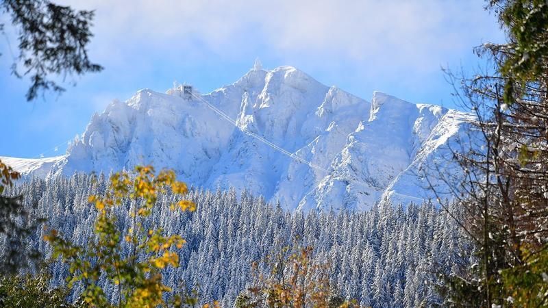 Jesienny śnieg na Kasprowym Wierchu