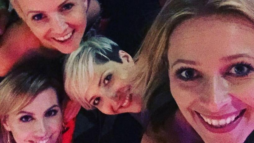 Odeta Moro z przyjaciółmi