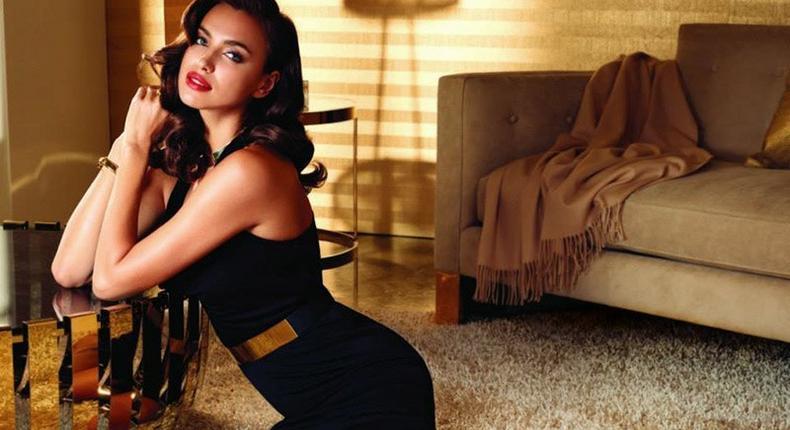 Irina Shayk for Avon 'Rare Gold' fragrance campaign
