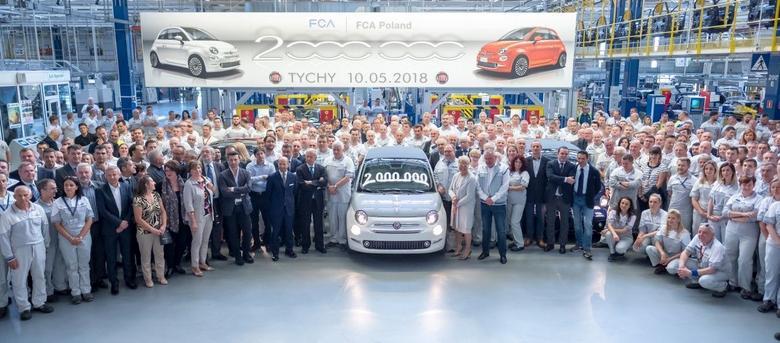10 maja 2018 roku wyprodukowano dwumilionowy egzemplarz Fiat 500