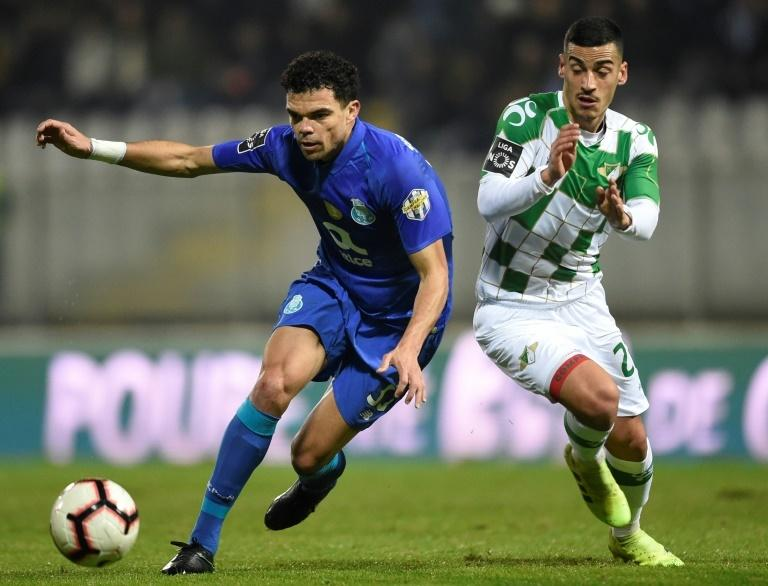 Pepe (L) returned to Porto last month for a second spell after being released by Besiktas