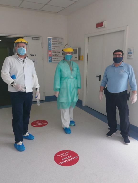Ekipa lekara i tehničara iz prijemne ambulante Klinike za kardiologiju