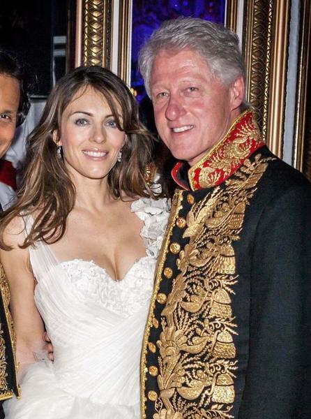 Liz Hurley i Bill Clinton na kolacji w St Petersburgu