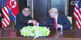 Swoboda i żarty Donalda Trumpa na spotkaniu z Kim Dzong Unem