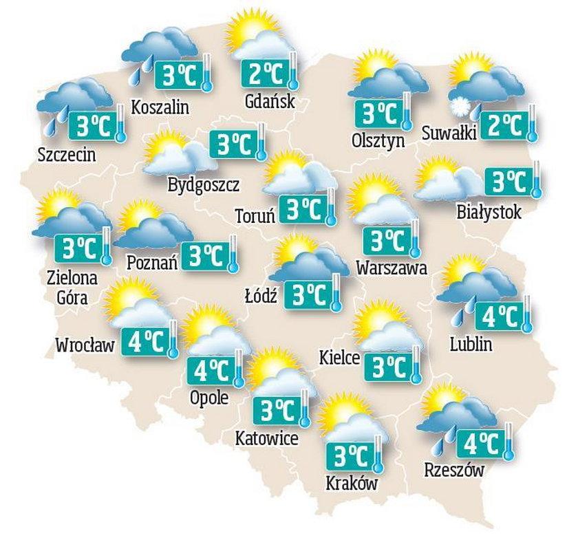 Prognoza pogody na czwartek, 31 grudnia