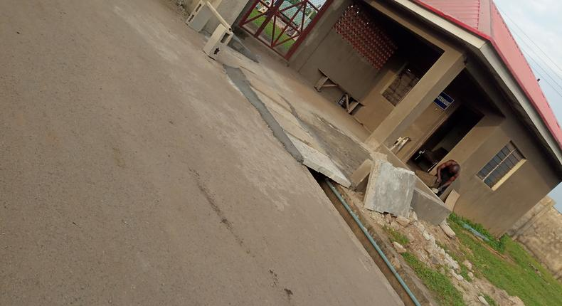 Front view of Ibadan central abattoir, a multi-billion-naira project built on a 10-hectare of land in Amosun village