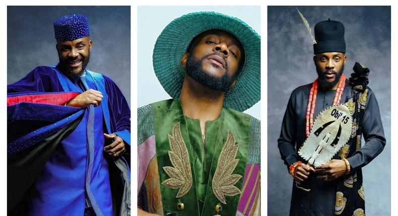 Some of Ebuka's looks for the Big Brother Naija eviction show [instagram]