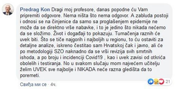 Kon poruka na Fejsbuku