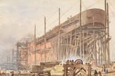 """Izgradnja """"Grejt isterna"""" National Maritime Museum, Greenwich, London"""